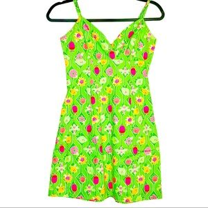 Lilly Pulitzer Vintage A-Maze-Ing Lime Mini Dress